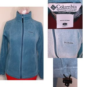 Columbia Fleece Zip Up Jacket Blue